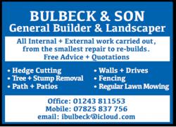 Bulbeck & Son – General Builder & Landscaper
