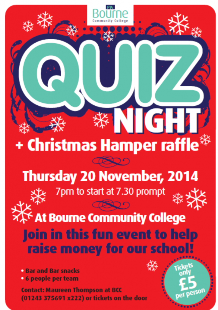 Quiz Night Bourne Community College The Village Magazine